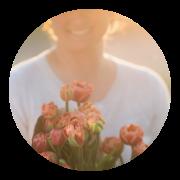 Valérie et ses tulipes